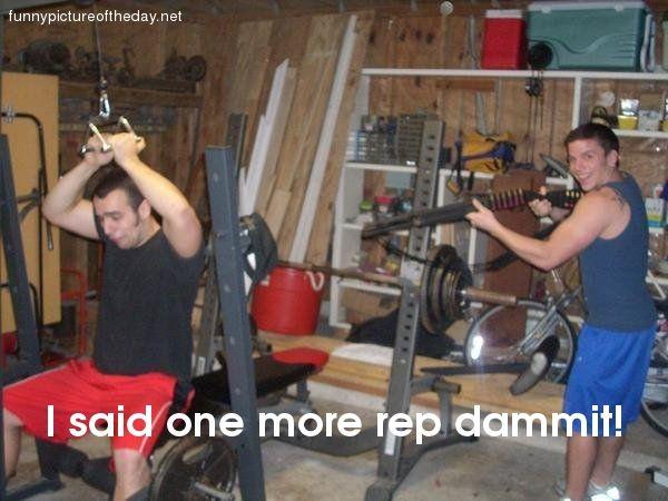 Funny Work Out Gym Shotgun Jeszcze jedno powtorzenie