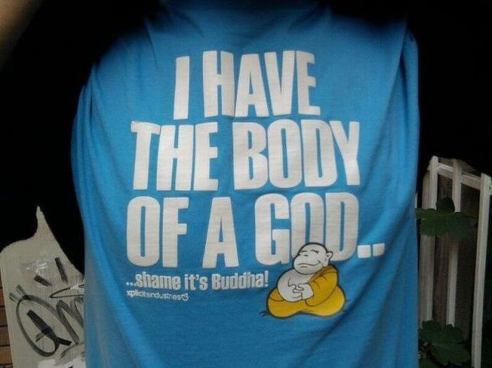 i have the body of a god shame its buddha Mam cialo boga