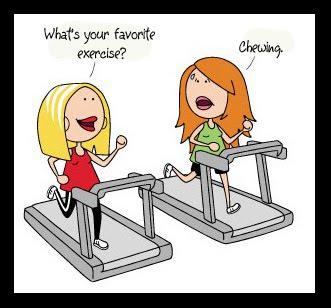 exercising cartoon chewing Jakie jest twoje ulubione cwiczenie?